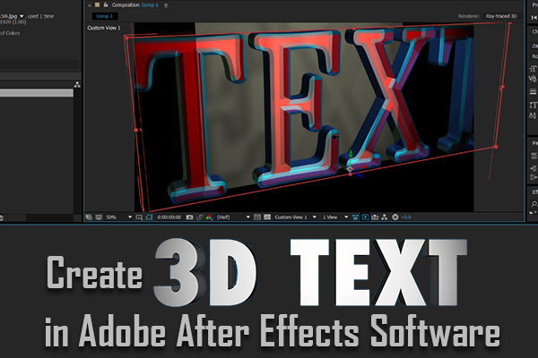 3D Text in Adobe After Effects